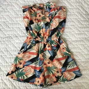 NEW Strapless Romper Knot Bow/Keyhole